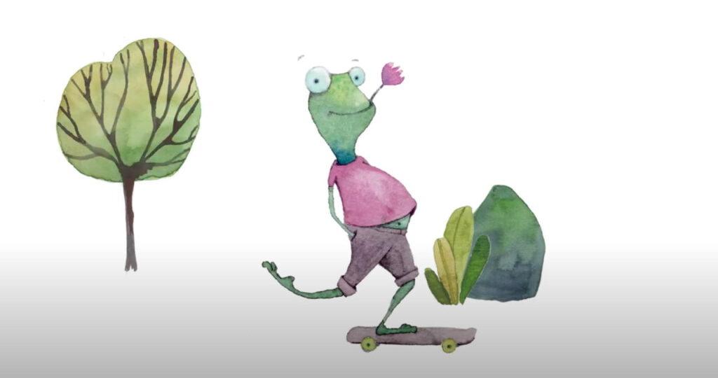 Shop Frecher Fritz. Fritz auf einem Skateboard. Karten für jede Gelegenheit.